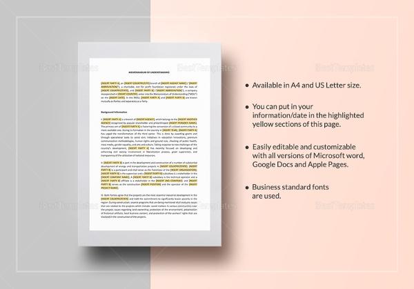 Memorandum of understanding template 14 free word pdf documents memorandum of understanding between two individuals party template in google docs spiritdancerdesigns Image collections