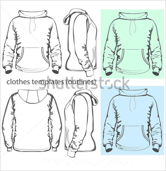 men hoodie sweat shirt with pocket template