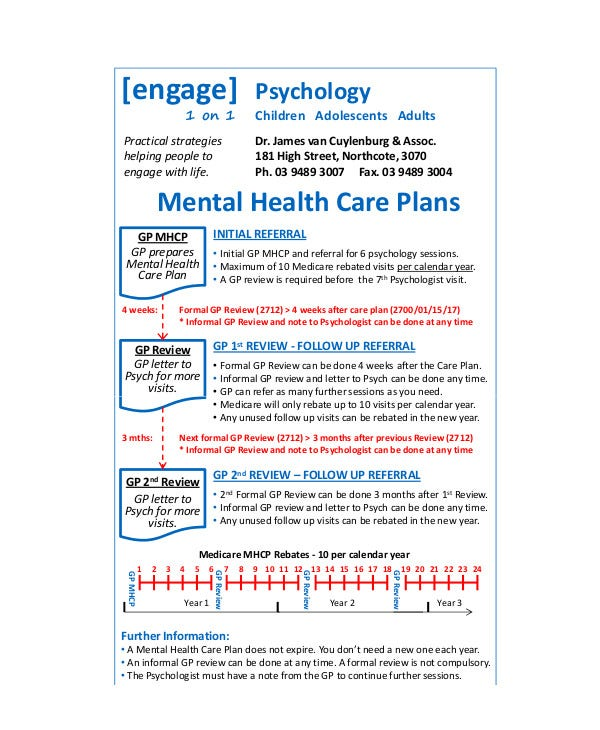 10 Mental Health Care Plan Templates Pdf Doc Free Premium