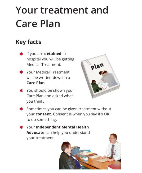 mental treatment and care plan