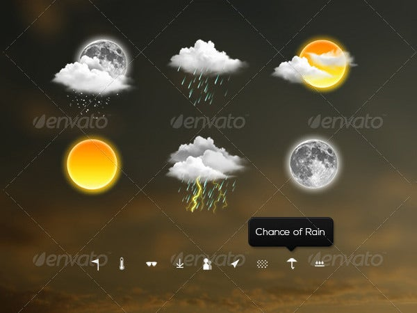 meteo weather icons suite