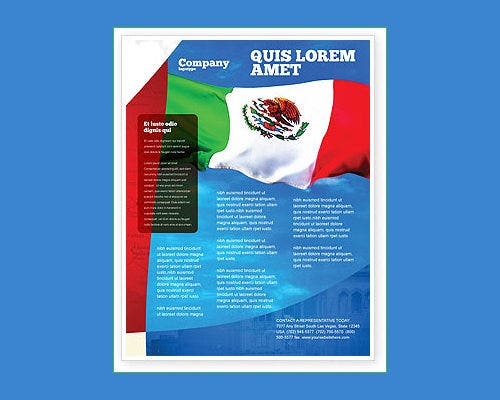 Mexican Word Flyer Template  Free Flyer Templates Word