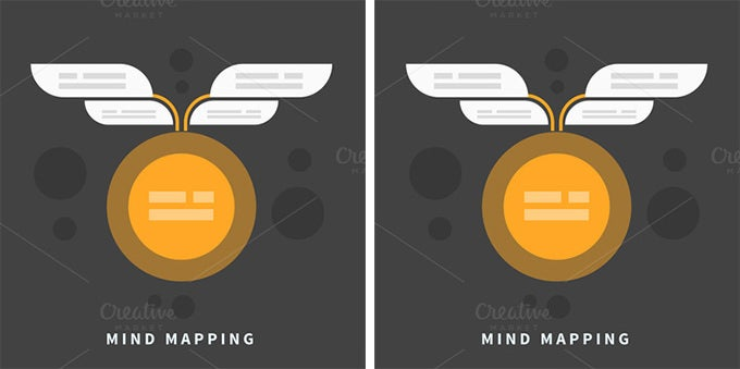 mind map template with place