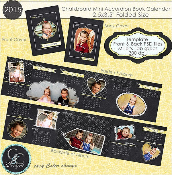 mini family calendar template