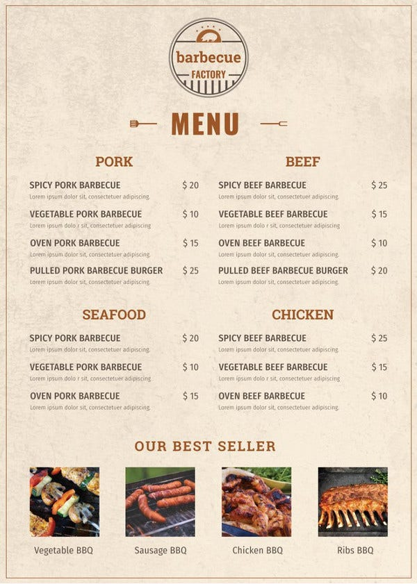 40  menu design templates  u2013 free sample  example format