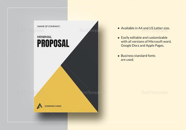 Contemporary Free Proposal Template Microsoft Word Illustration