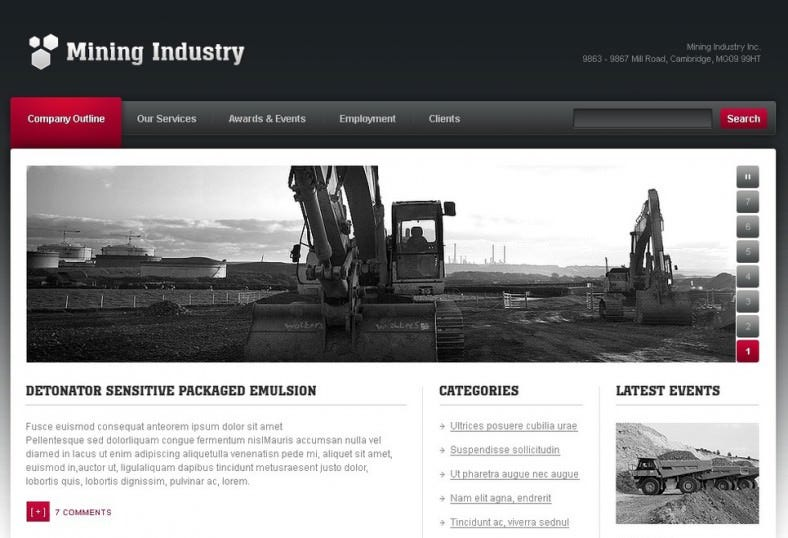 Mining Company WordPress Theme