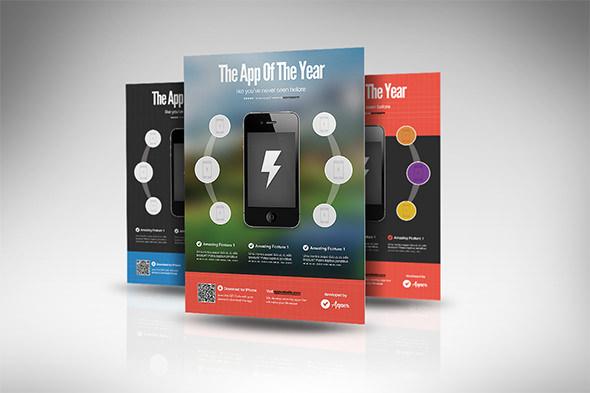 mobile app campaign flyer