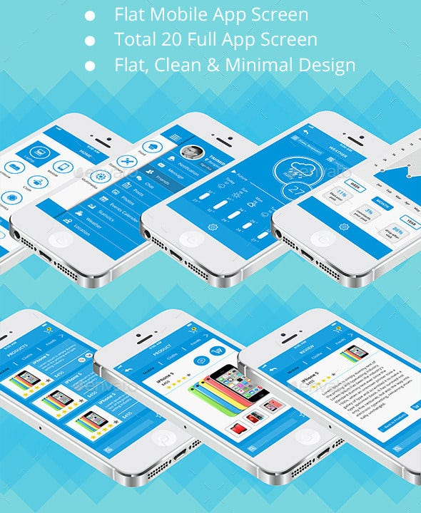 mobile app psd ui templates