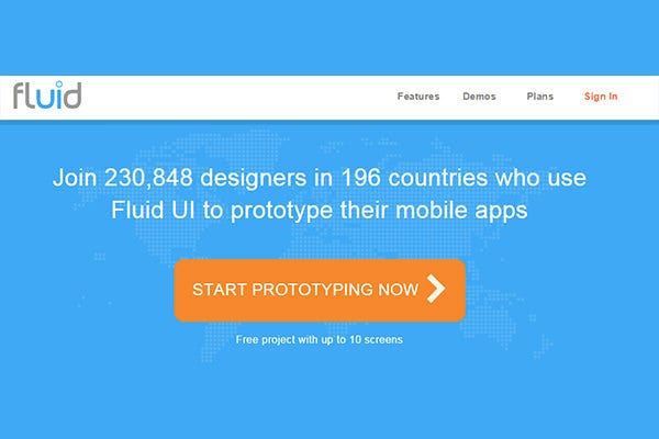 mobile app prototyping tool