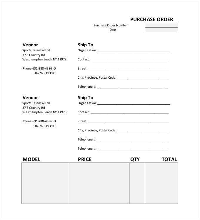 54 Purchase Order Examples Pdf Doc Free Amp Premium