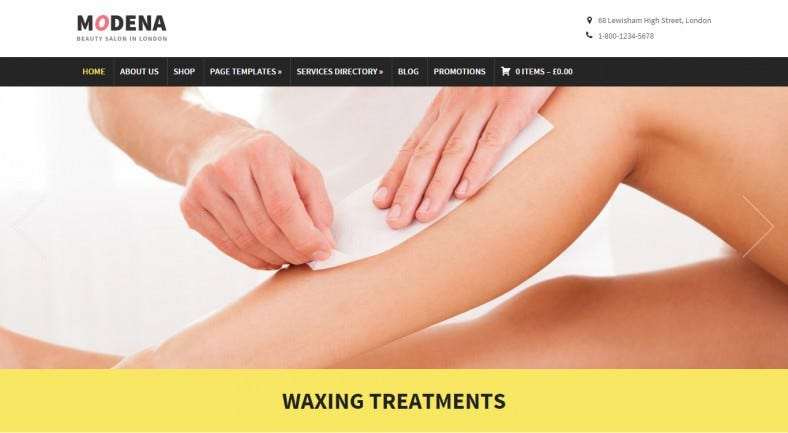 esponsive WordPress Theme for Spa , Beauty Salon