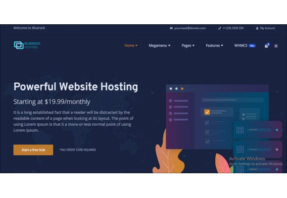 modern and professional hosting template