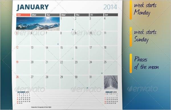 monthly planner template 2014 2015