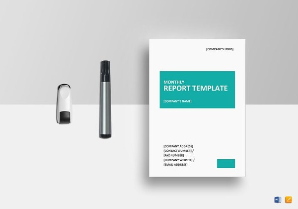 monthly report template word
