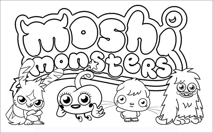moshi monster coloring pages fre