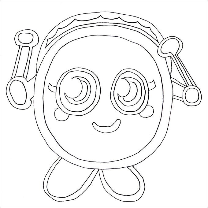 moshi monster kids coloring pages