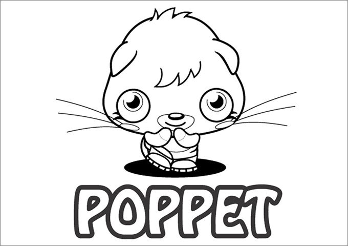 moshi monster poppet coloring page