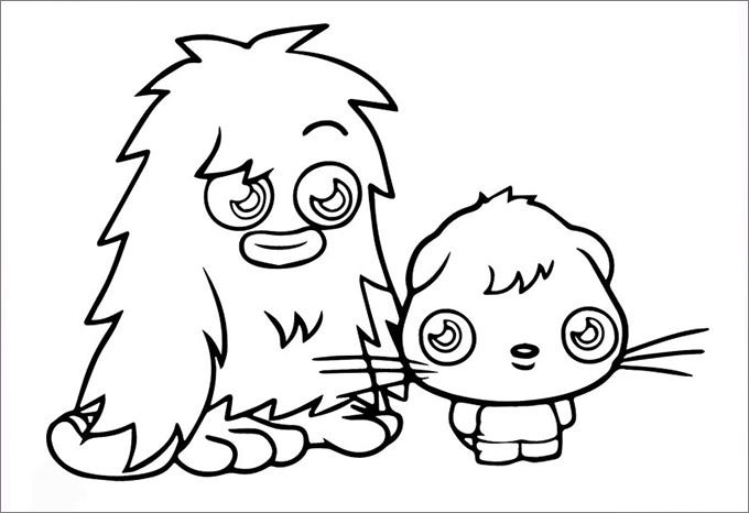 Moshi Monsters Coloring Pages Small