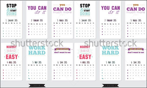 motivational calendar template