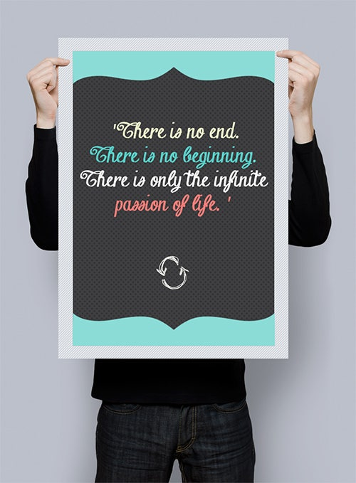 motivational typo psd posters