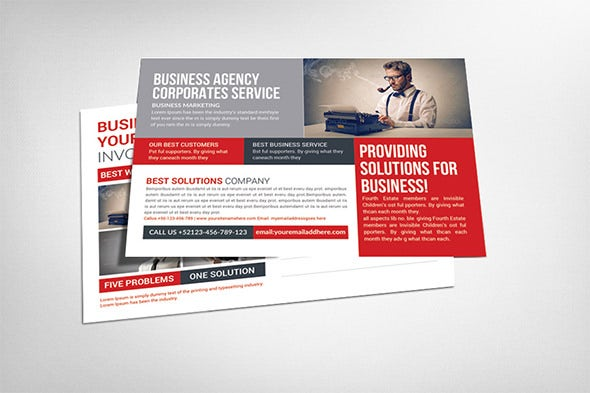 multi business postcard flyer template