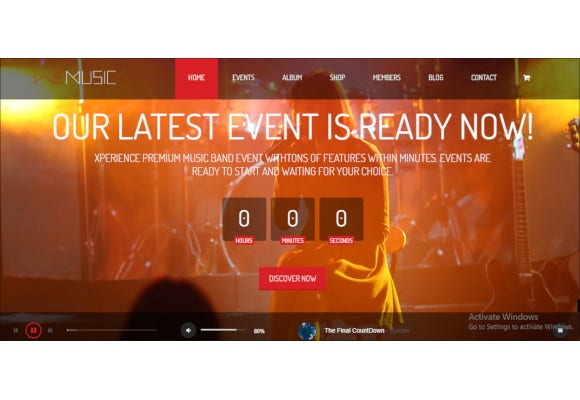 music band event drupal theme