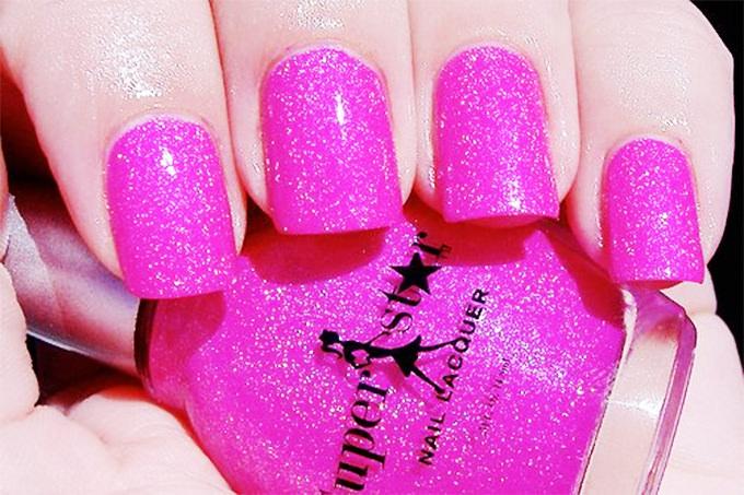 nail art glitter design