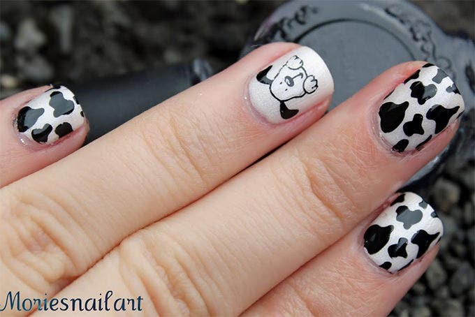 nail design black and white