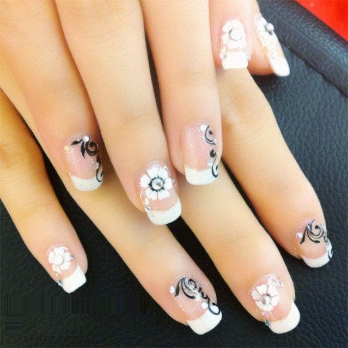 30 amazing wedding nail designs for every bride free premium nail design wedding prinsesfo Images
