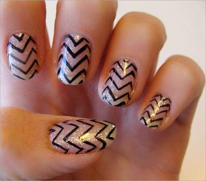 nail polish design easy