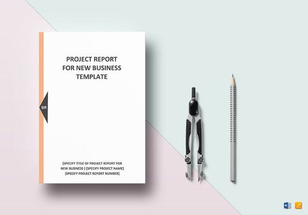 new business project report word template