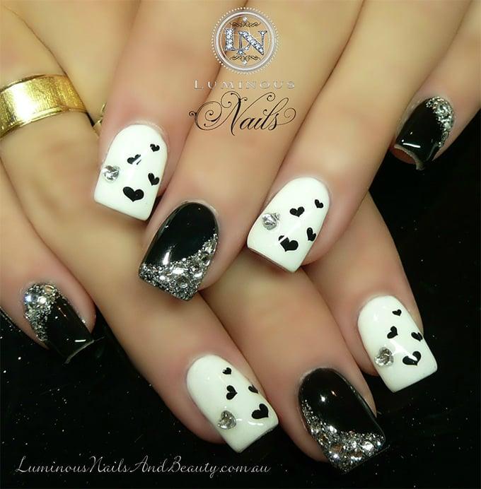 new glitter nail design