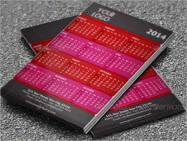 new kooky pocket calendar template