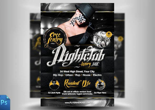night club crome flyer template