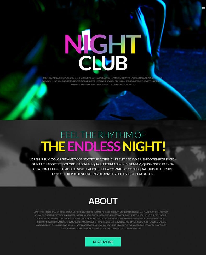 night life party wordpress theme 788x974
