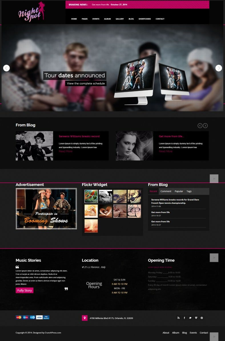 night spot night club responsive wordpress theme 788x1193