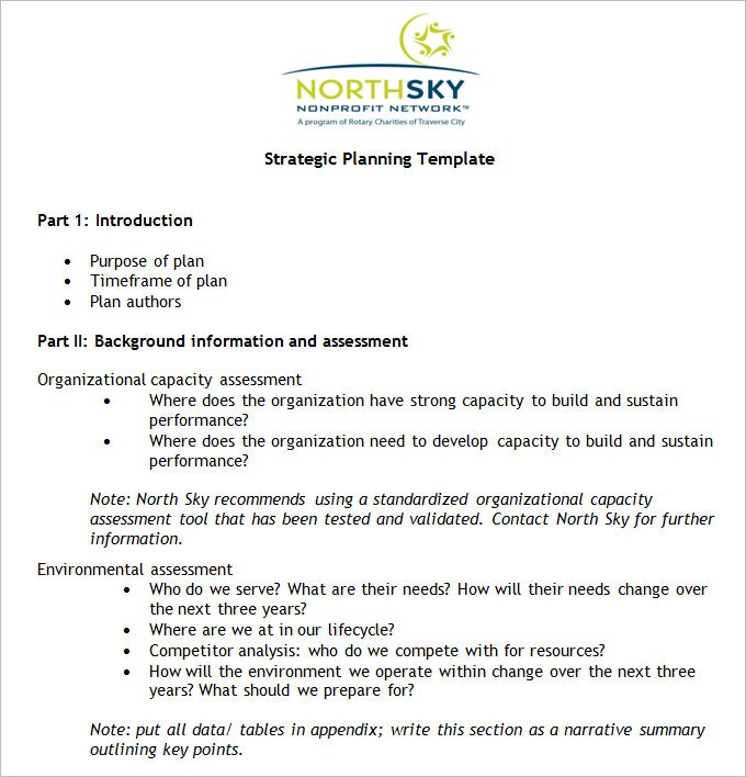 NonProfit Strategic Plan Template Free Word PDF Documents - Charity business plan template