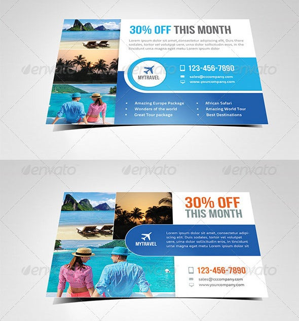 offer advertising postcard flyer template