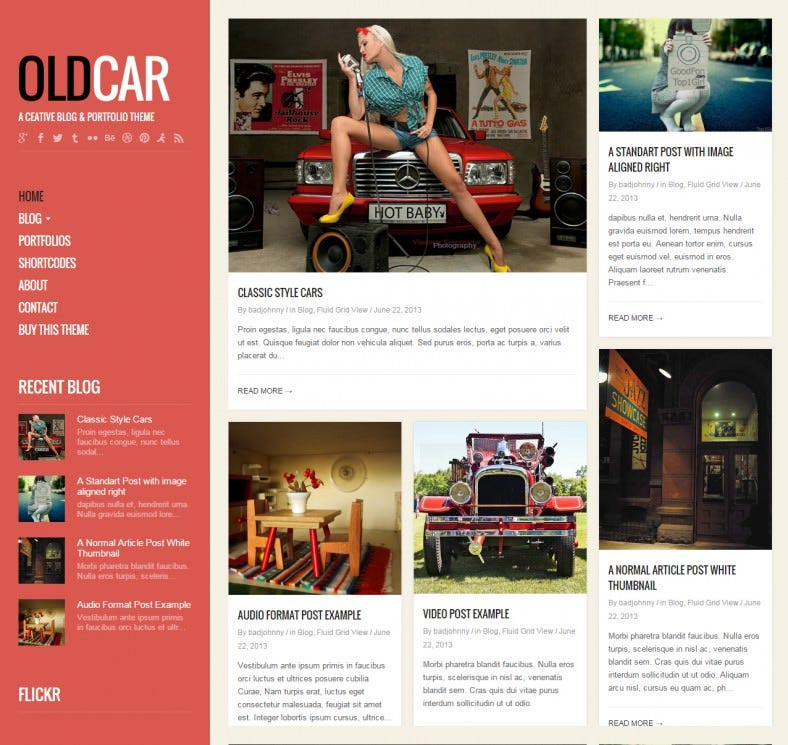 oldcar responsive blog grid wordpress theme 788x745