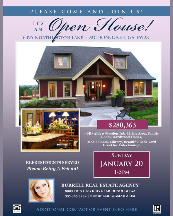 open house sign flyer template