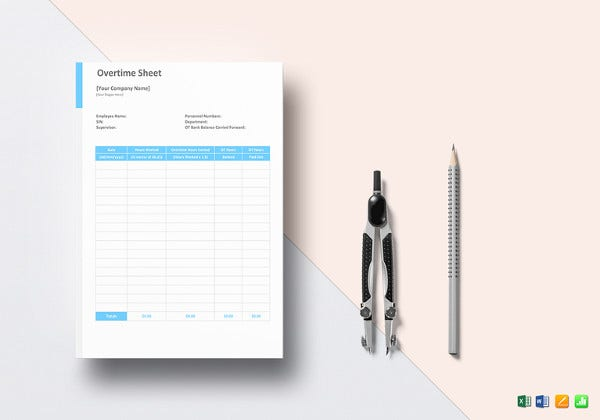 overtime sheet word template