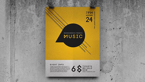 concert flyer template free download .