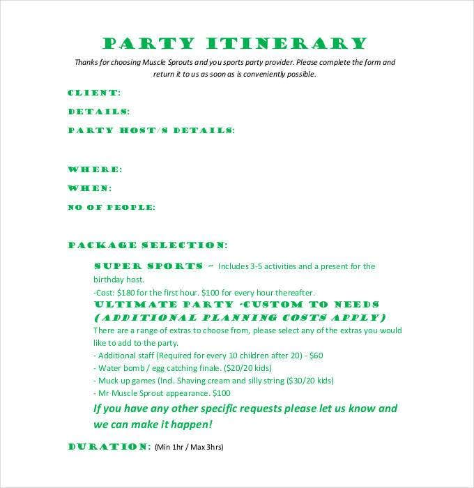 party-itinerary-template-pdf