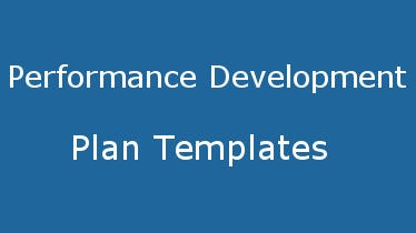 performancedevelopmentplantemplates
