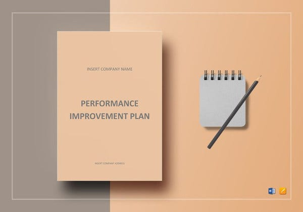 performance improvement plan in ms word