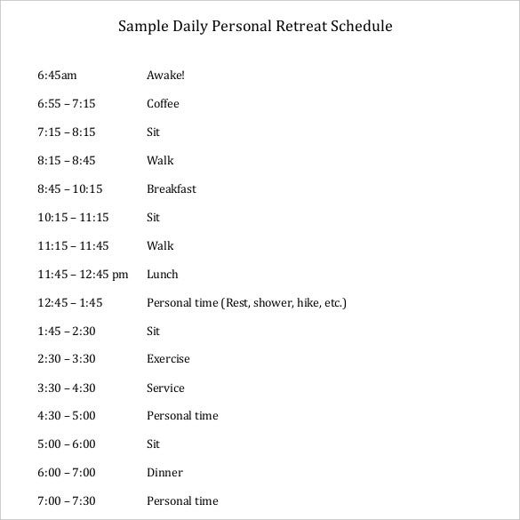 personal-daily-schedule