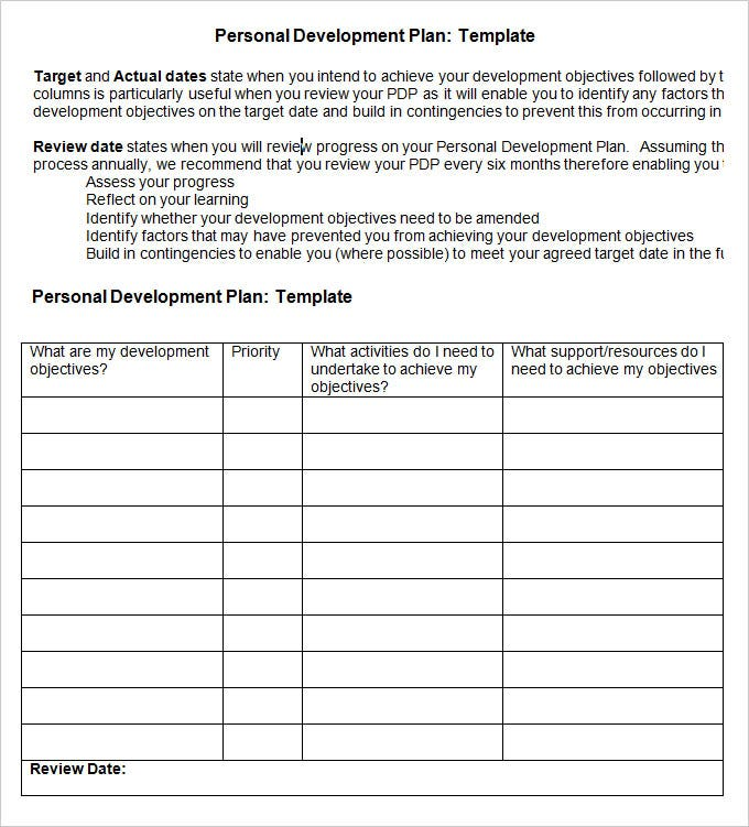 Career Development Plan Career Development Plan Template XVobxl0C