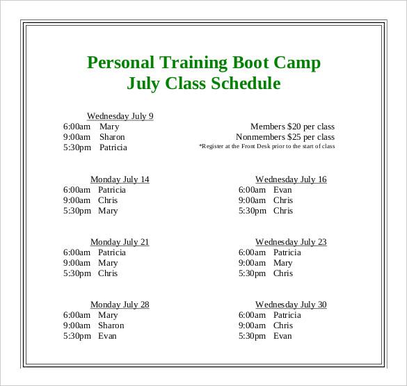 create college class schedule