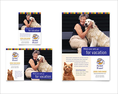 pet day word flyer template